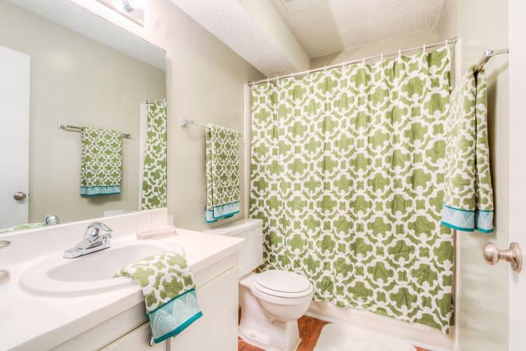 Master bathroom at The Flats at Arrowood in Charlotte, North Carolina
