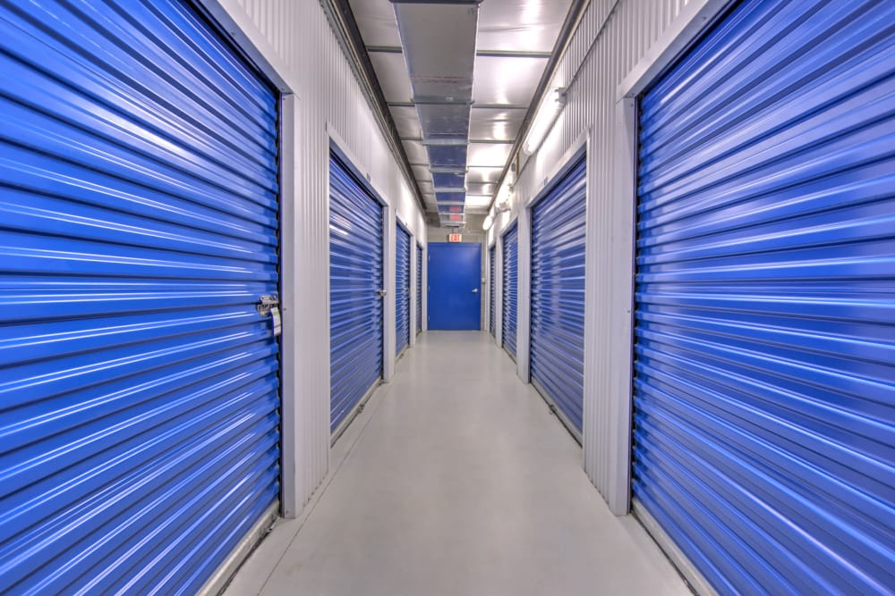 Indoor storage units at Prime Storage in Virginia Beach, Virginia