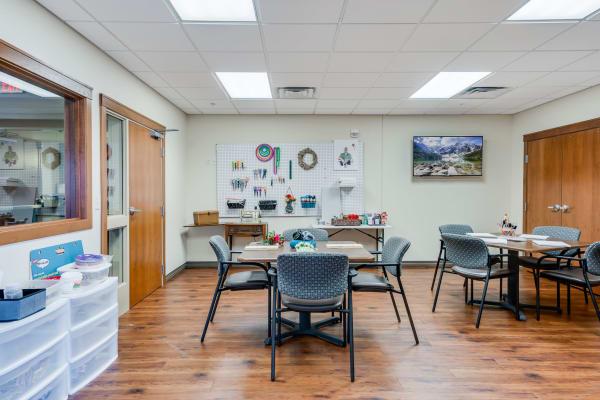 Arts and crafts room at Arbor Glen Senior Living in Lake Elmo, Minnesota