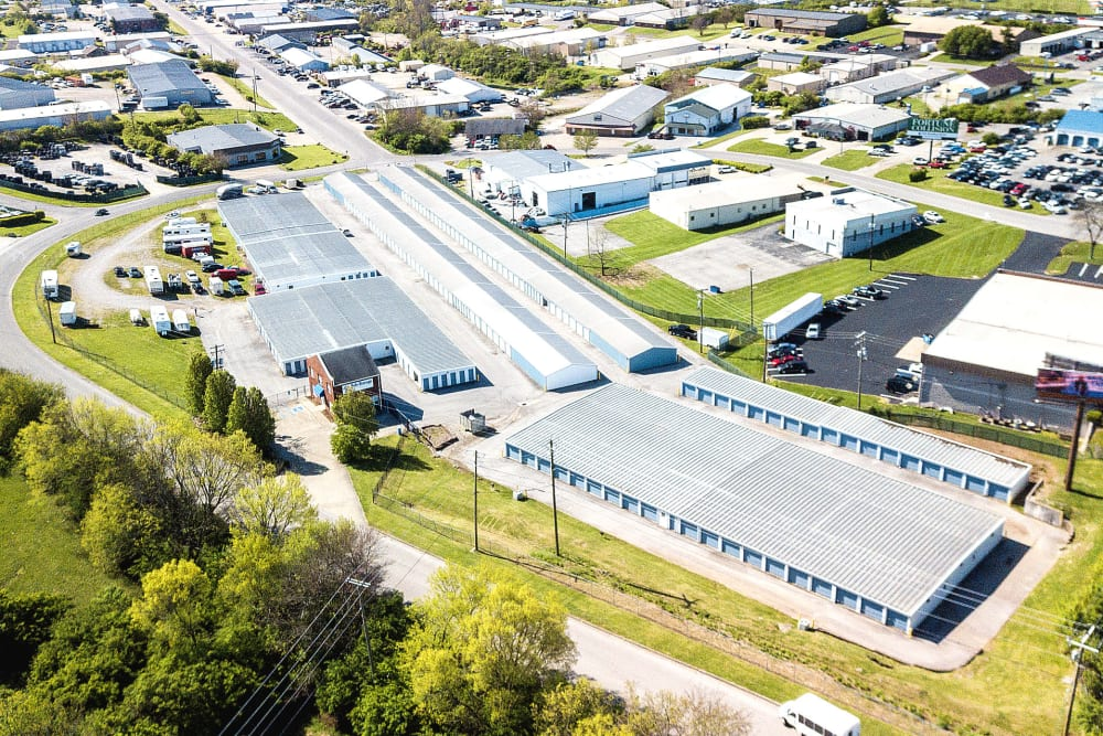 Aerial view of Safe Storage in Nicholasville, Kentucky