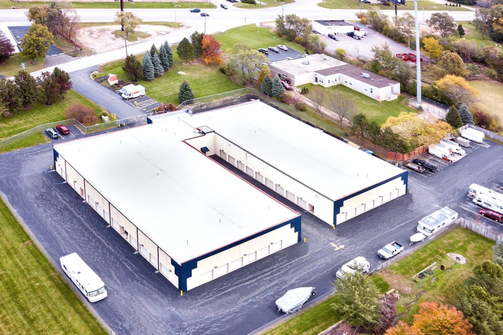 Aerial view of Prime Storage in West Chicago, Illinois