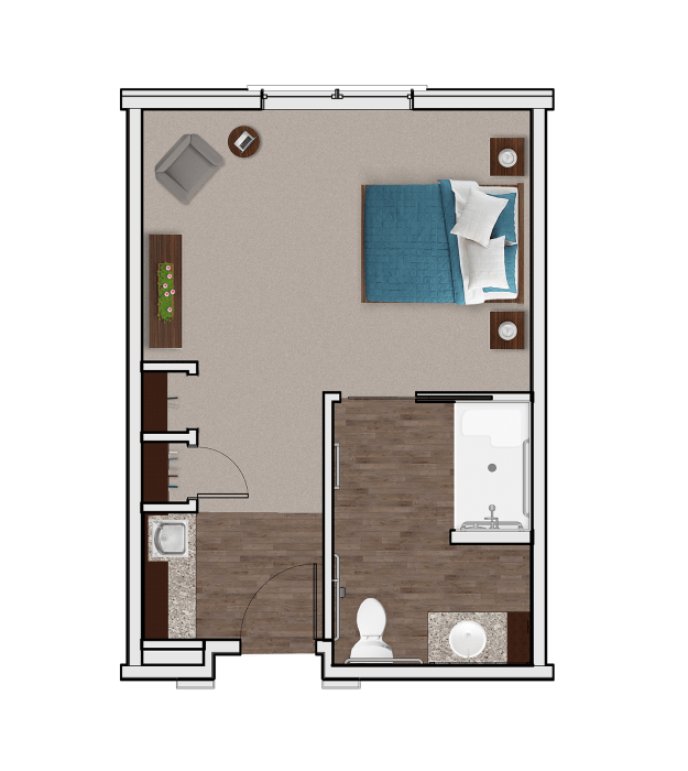 Memory Care Private Suite at Stonecrest of Meridian Hills