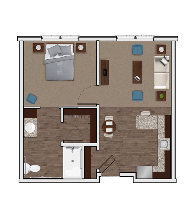 Assisted Living One Bedroom at Stonecrest of Wildwood