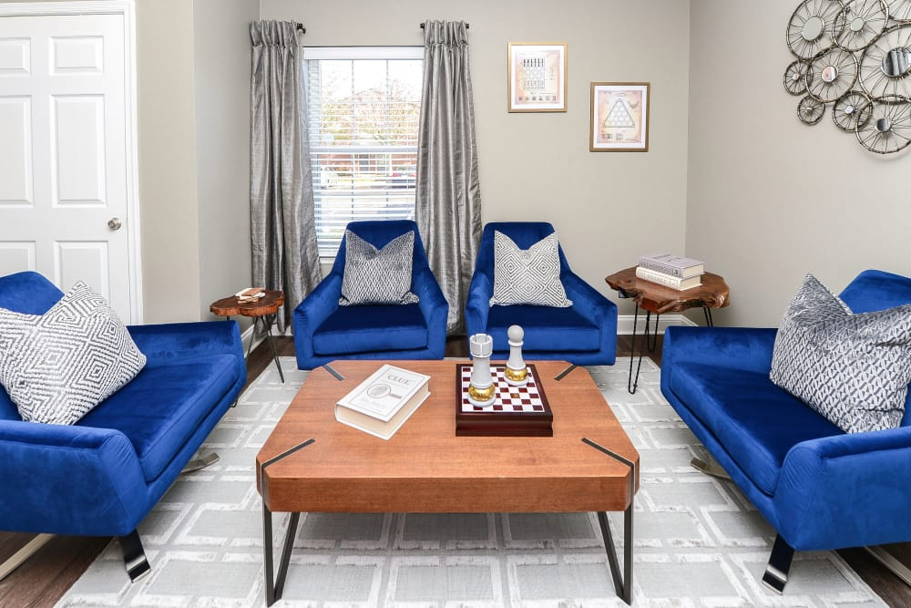 Living Room at Abrams Run Apartment Homes in King of Prussia, Pennsylvania