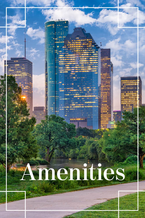 View the amenities at Bayou on the Bend in Houston, Texas
