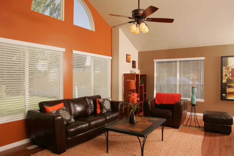 Enjoy a cozy living room at Cherry Lane Apartment Homes