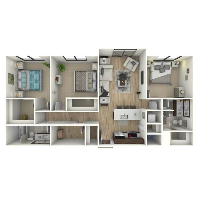 Open-Concept 3 bedroom at 6 West Apartments in Edwards, Colorado
