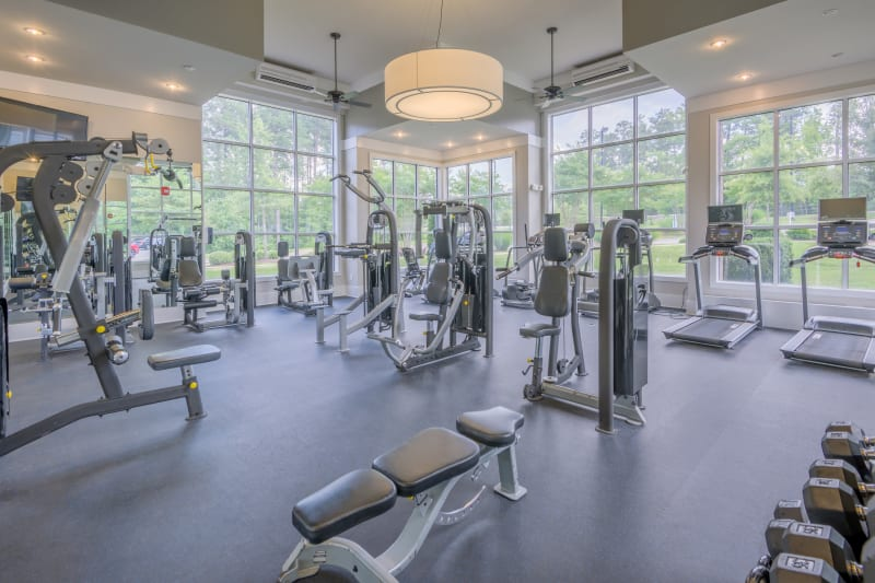 Well equipped fitness center in Raleigh, North Carolina