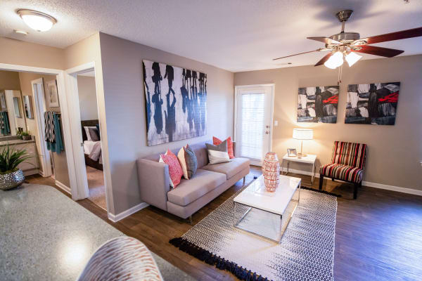 Plenty of space in a model apartment home at 200 Braehill in Winston-Salem, North Carolina
