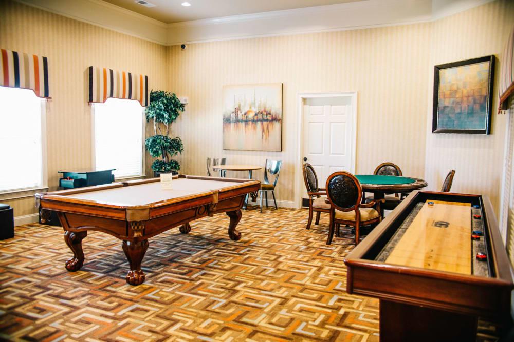 pool table at Villas at Houston Levee East