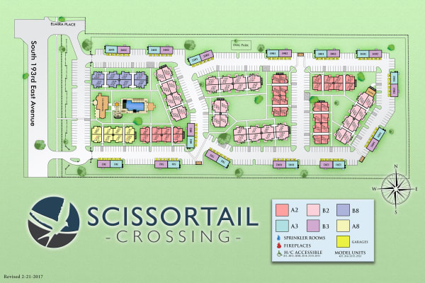 Site map for Scissortail Crossing Apartments in Broken Arrow, Oklahoma