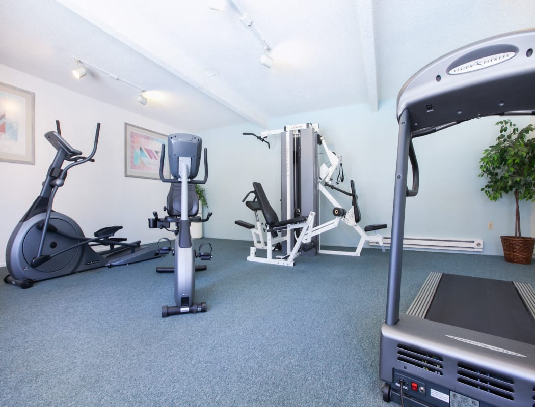 Fitness center at Appletree Apartments in Campbell, California