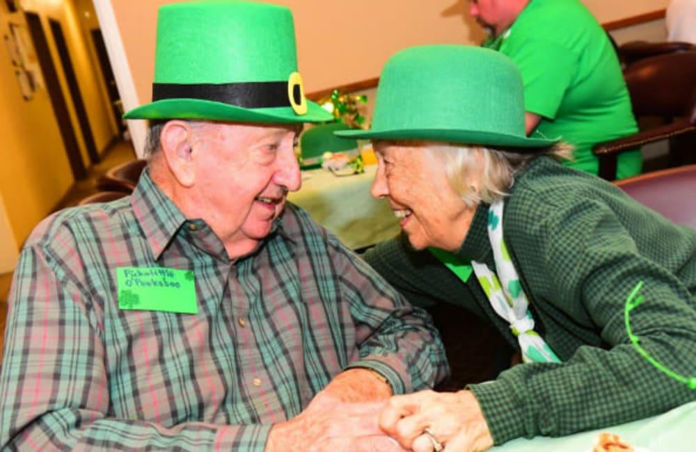 Residents enjoying an event at River Commons Senior Living in Redding, California