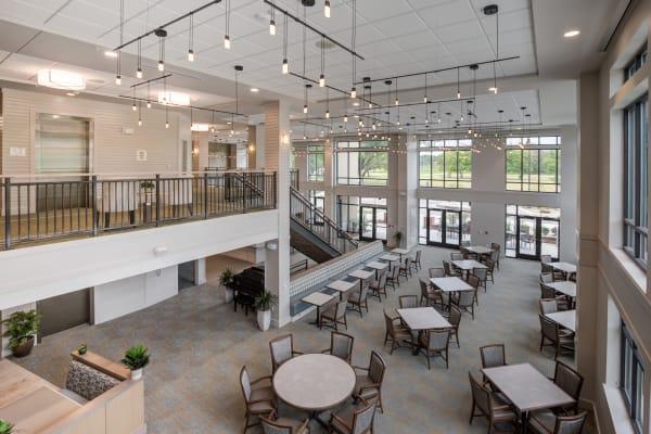 Large dining room at Merrill Gardens at Columbia in Columbia, South Carolina.