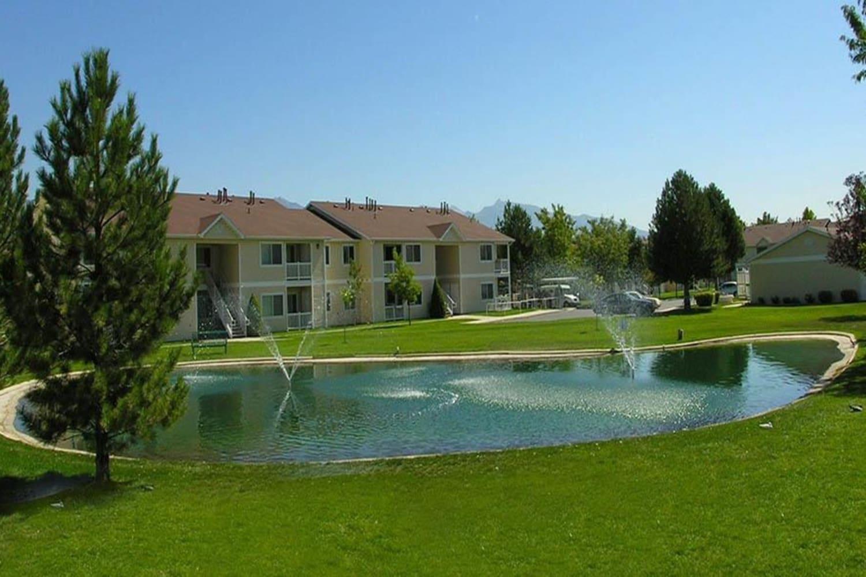 Pond at Lakeside Village Apartments in Salt Lake City, Utah