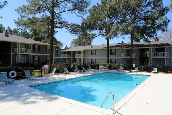 Swimming pool at Park West in Mobile, Alabama
