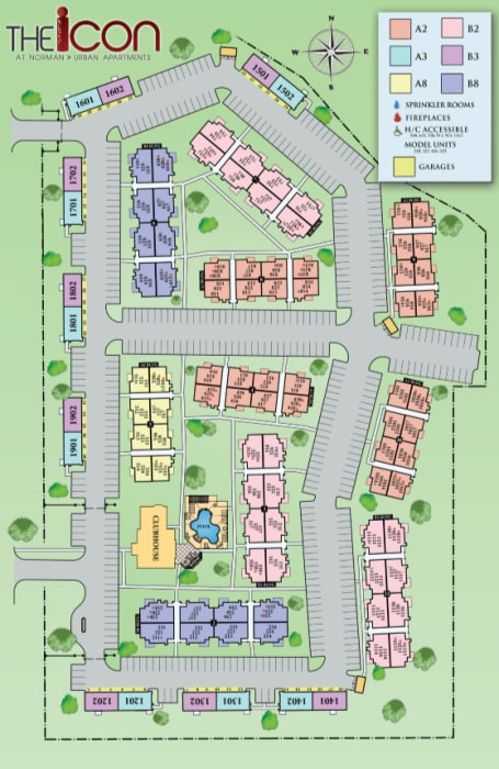Site map for Icon at Norman in Norman, Oklahoma
