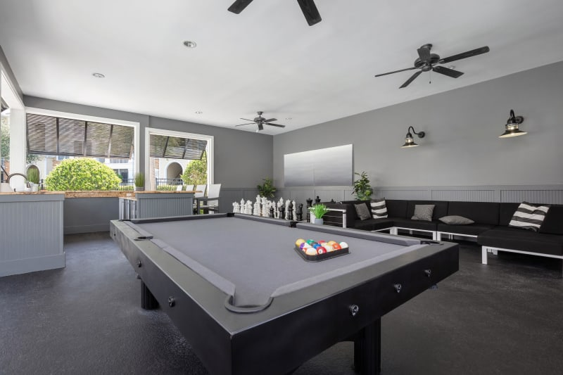 Billiards table at Luxe at 1820 in Tampa, Florida