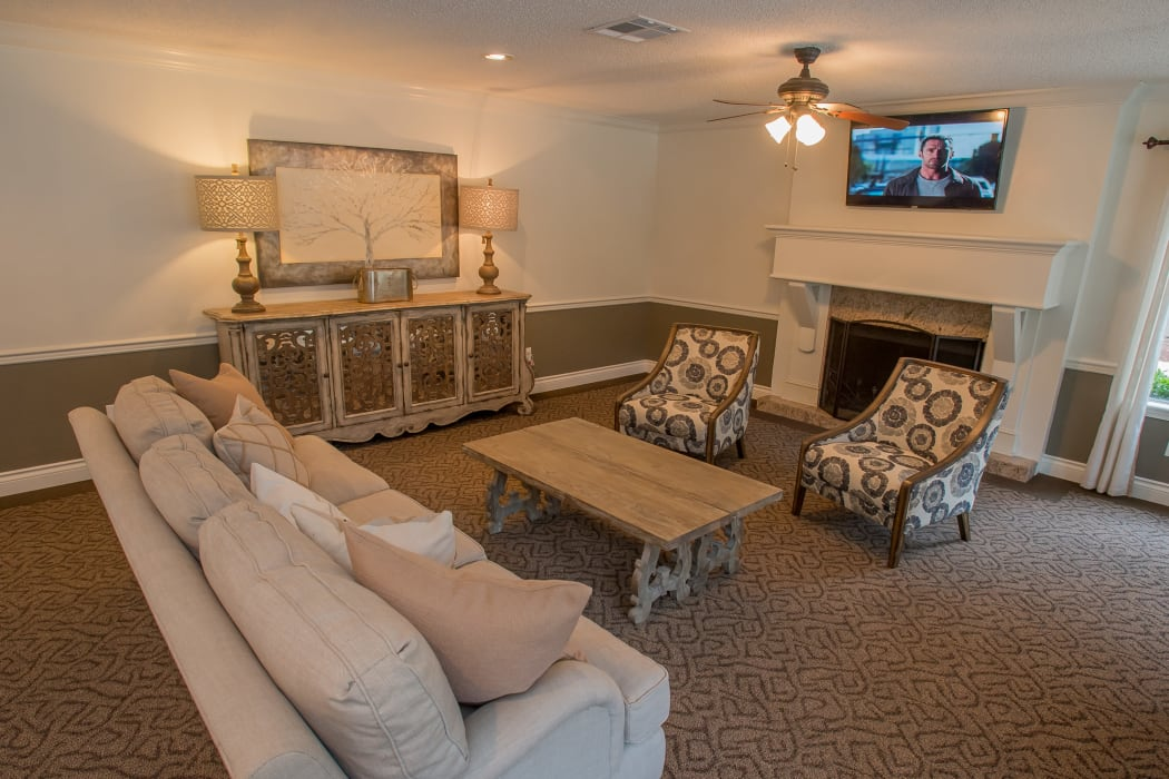 Inside the clubhouse at Cimarron Pointe Apartments in Oklahoma City, OK