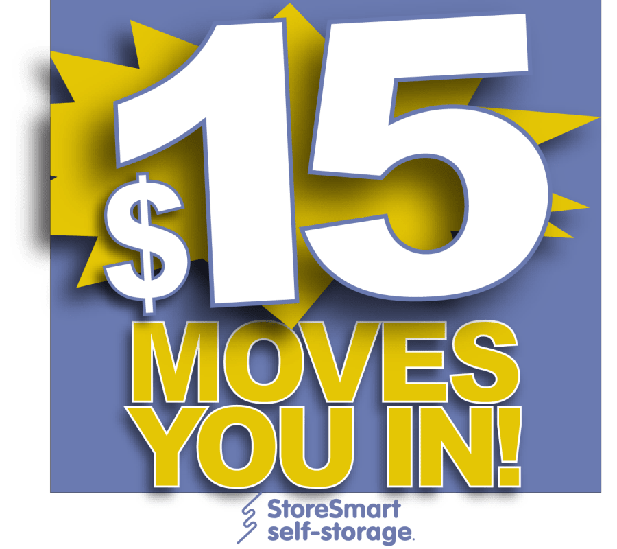 $15 moves you in at StoreSmart Self-Storage in Rockledge, Florida