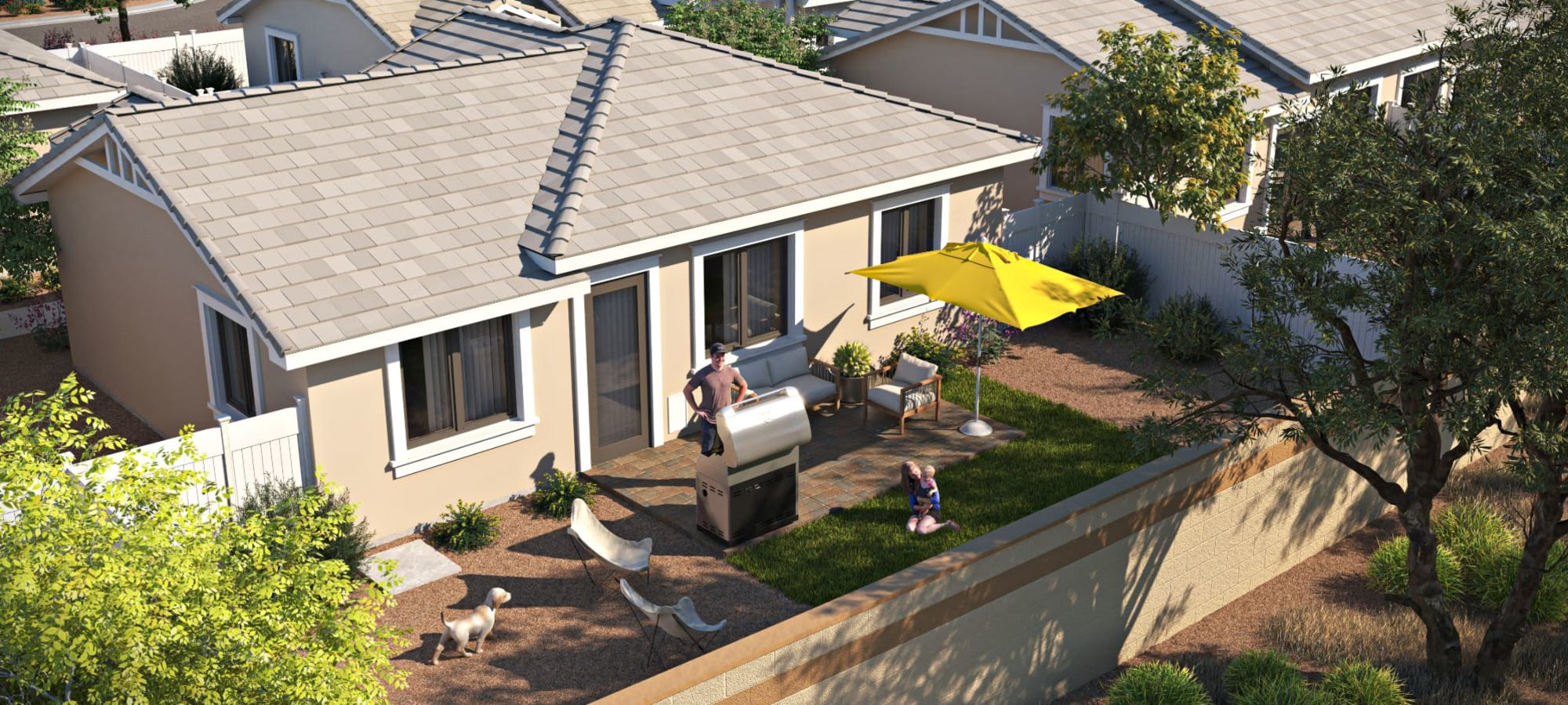 Backyard rendering of TerraLane at South Mountain in Phoenix, Arizona