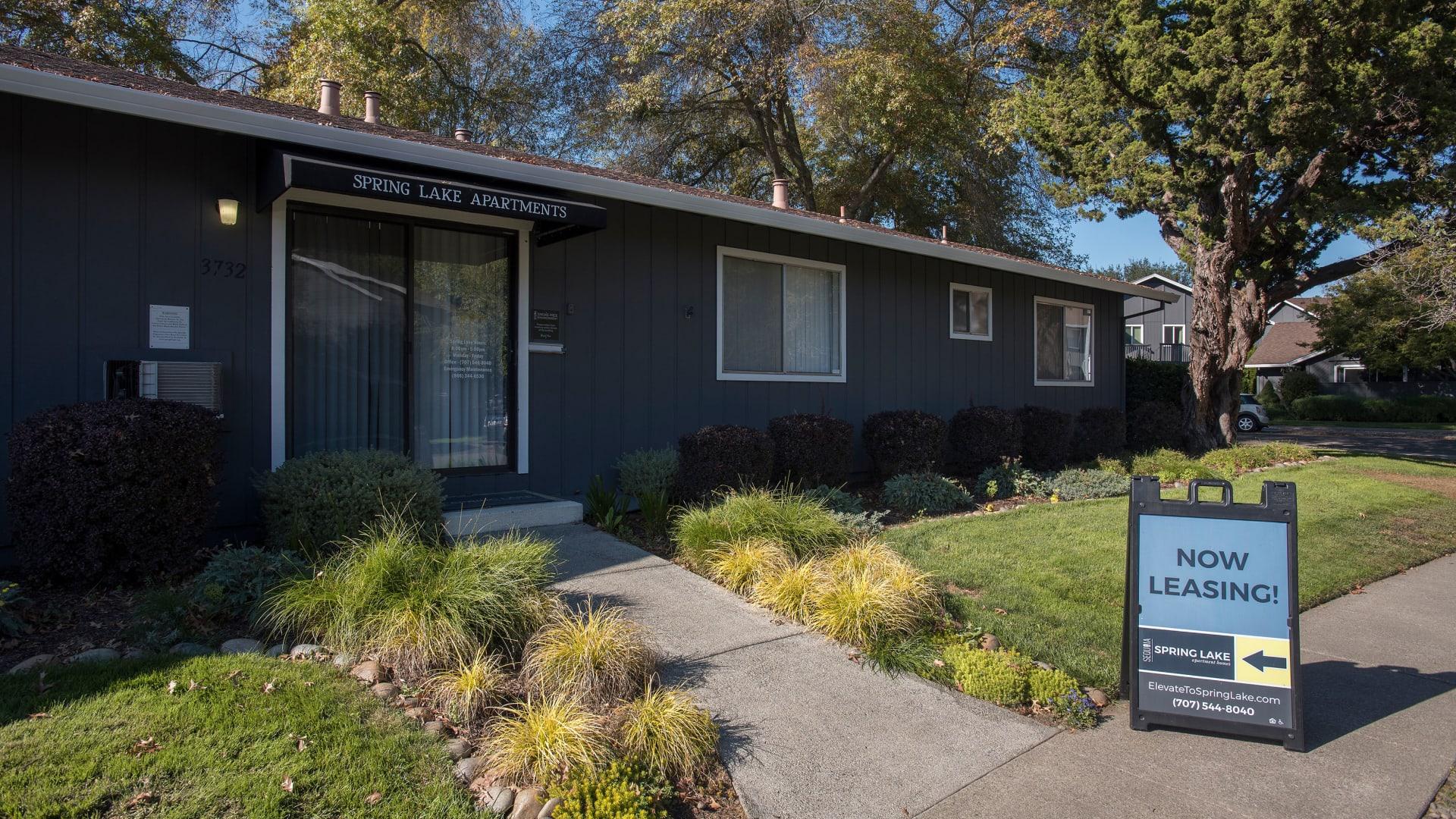 Leasing office at Spring Lake Apartment Homes in Santa Rosa, California