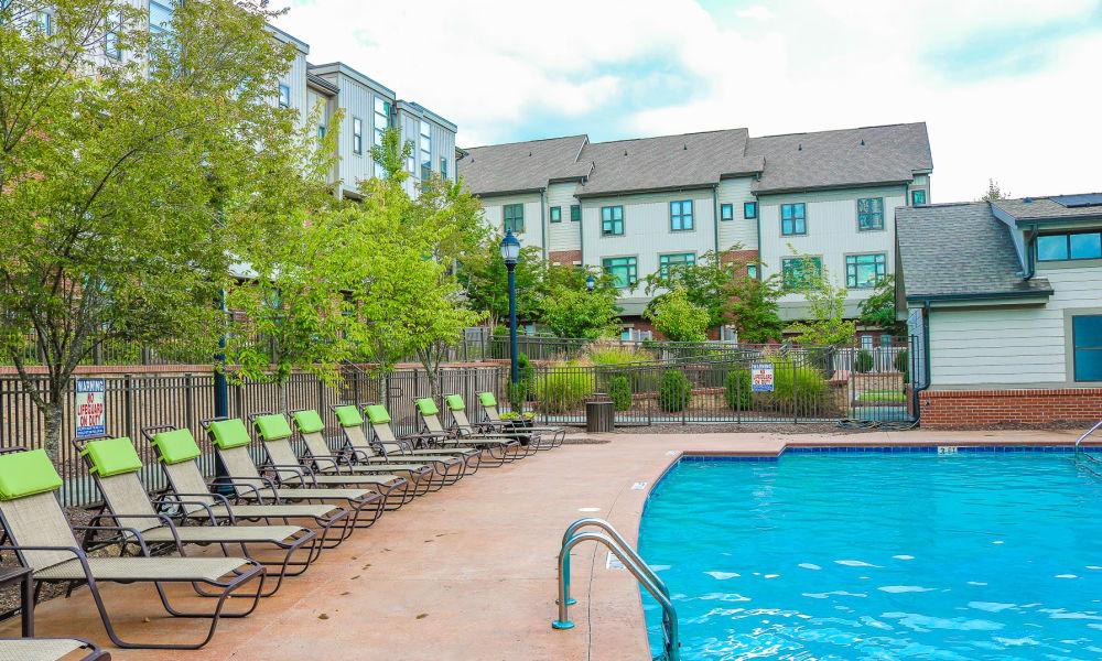 Spacious pool at Chapel Hill North