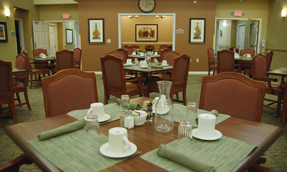 Resident dining hall at Absaroka Senior Living in Cody, Wyoming