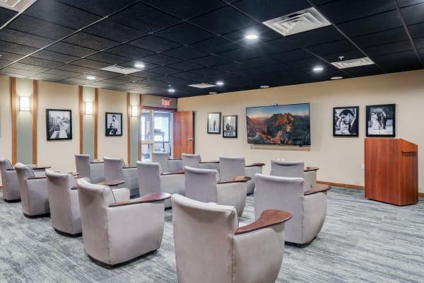 Movie theater at Arbor Glen Senior Living in Lake Elmo, Minnesota