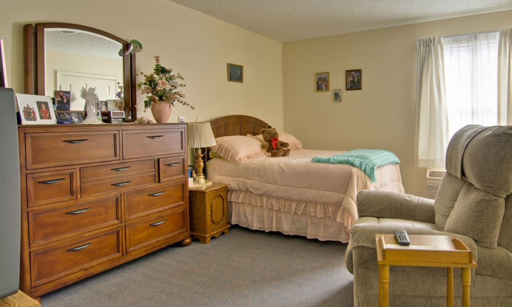 Cozy floor plan for assisted living residents at Silver Creek Senior Living in Joplin, Missouri
