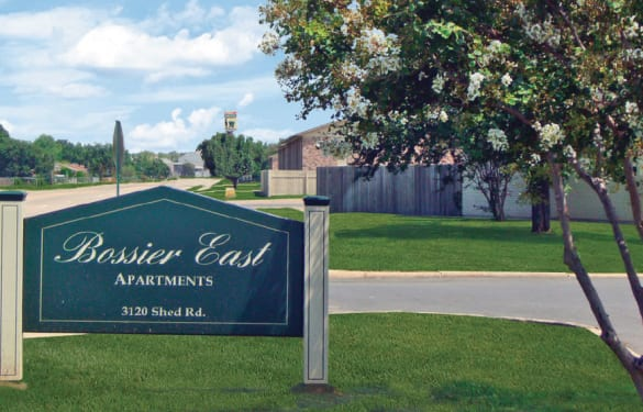 Our sign at Bossier East Apartments in Bossier City