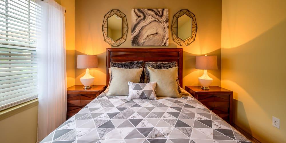 Guest bedroom at Pecan Springs Apartments in San Antonio, Texas