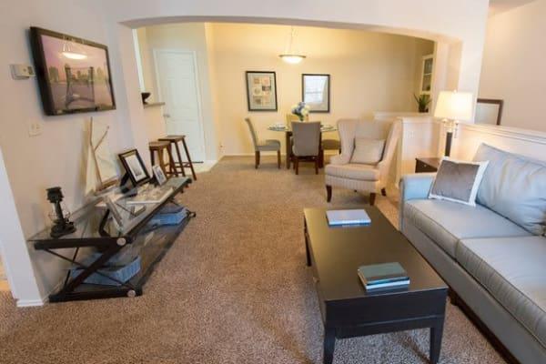 Open concept floor plans at Stonehaven Villas in Tulsa, Oklahoma