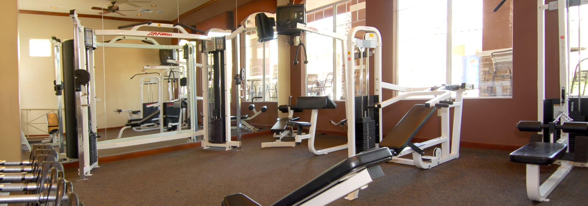 Fully-equipped fitness center at Remington Ranch in Litchfield Park, Arizona