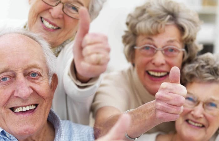 Happy residents at Stonecrest at Clayton View in Saint Louis, Missouri