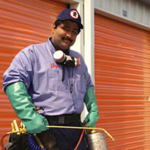 Regularly scheduled pest control at A-1 Self Storage in Cypress, California