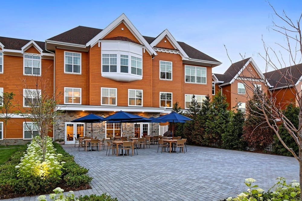 Beautiful exterior of apartments in Bethel, Connecticut