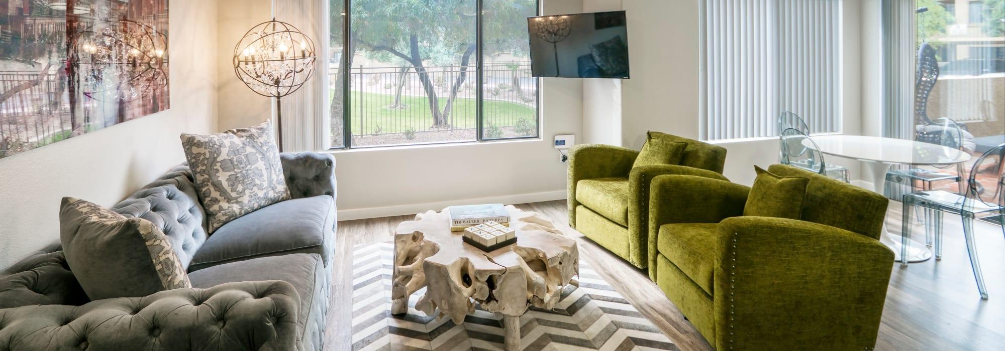 Bright Living Room at Waterside at Ocotillo