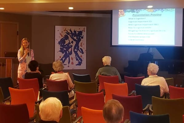 Lecture on Senior Cognitive Health with Nutritionist Barbara Beznos