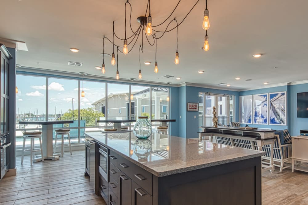 The clubhouse with an ocean view at Marina Villa in Norfolk, Virginia