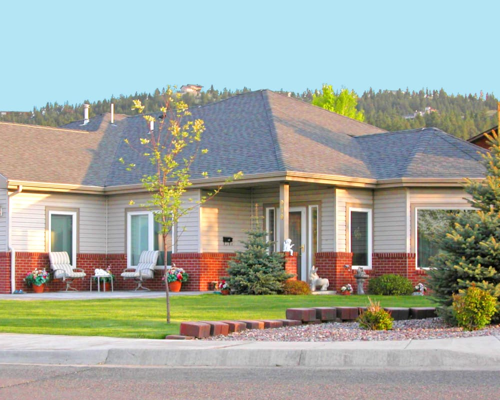 Independent living cottage exterior at Touchmark on Saddle Drive in Helena, Montana