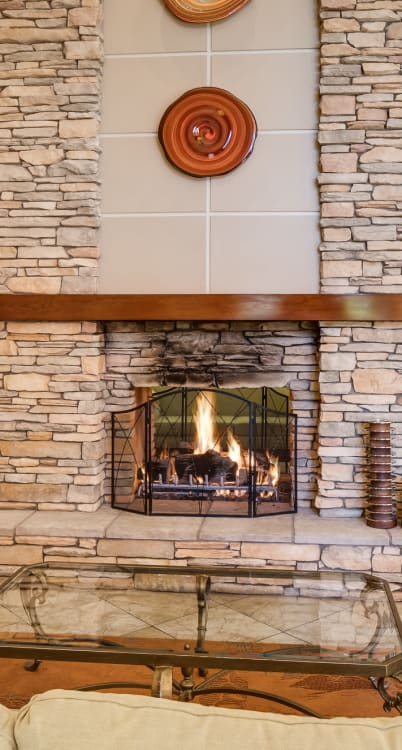 McDowell Village offers a grand fireplace in Scottsdale, Arizona