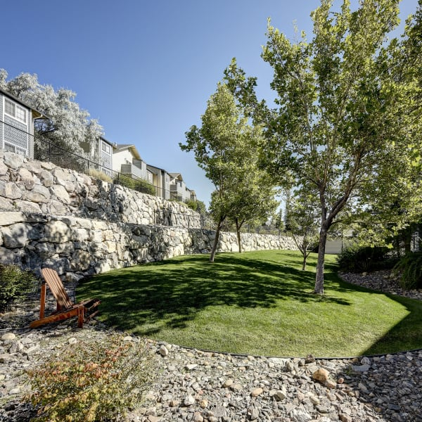 Beautiful grass lawn to relax on at Northwind Apartments in Reno, Nevada