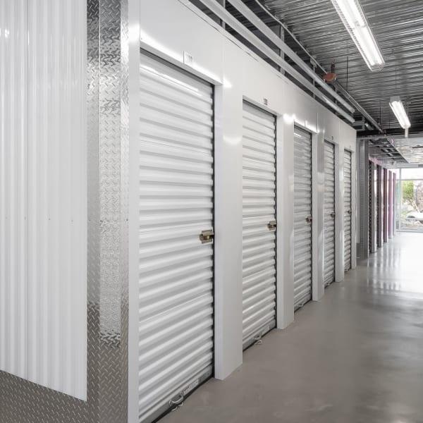 Indoor storage units at StorQuest Self Storage in Bothell, Washington