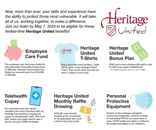 heritage united benefits