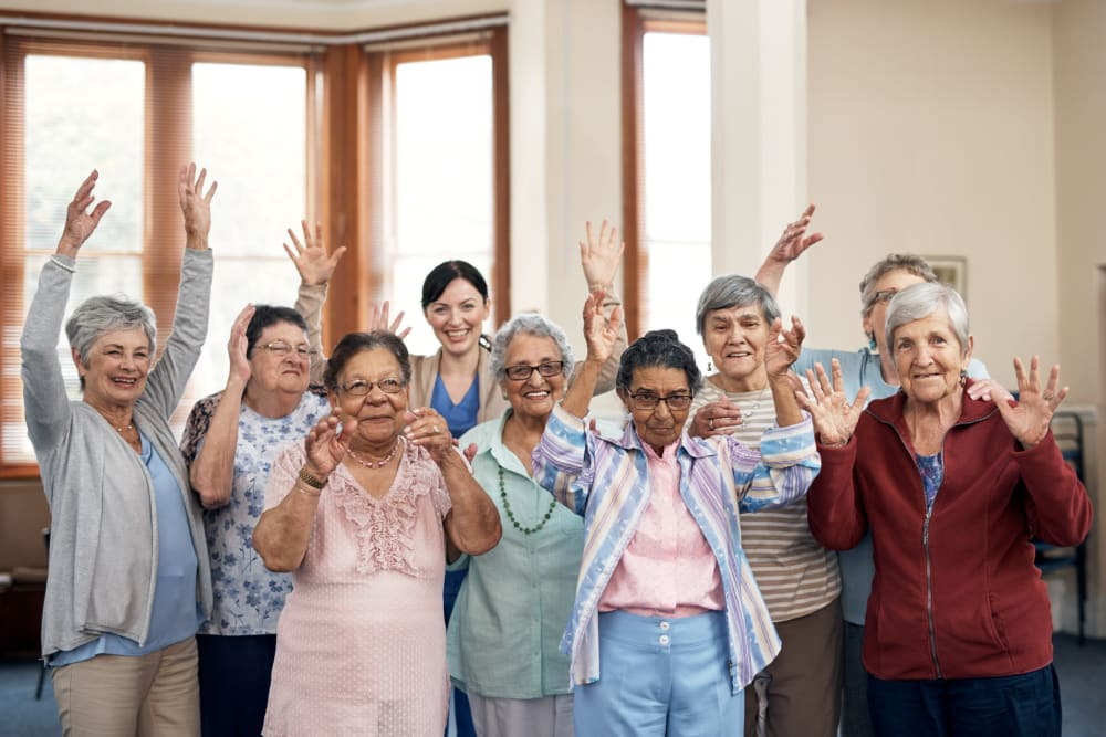 Group photo of residents at Broadwell Senior Living in Plymouth, Minnesota
