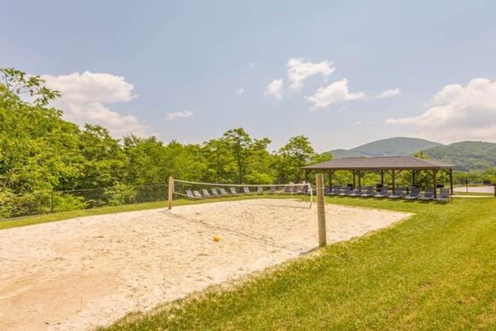 Sand volleyball court at Mountaineer Village in Boone, North Carolina