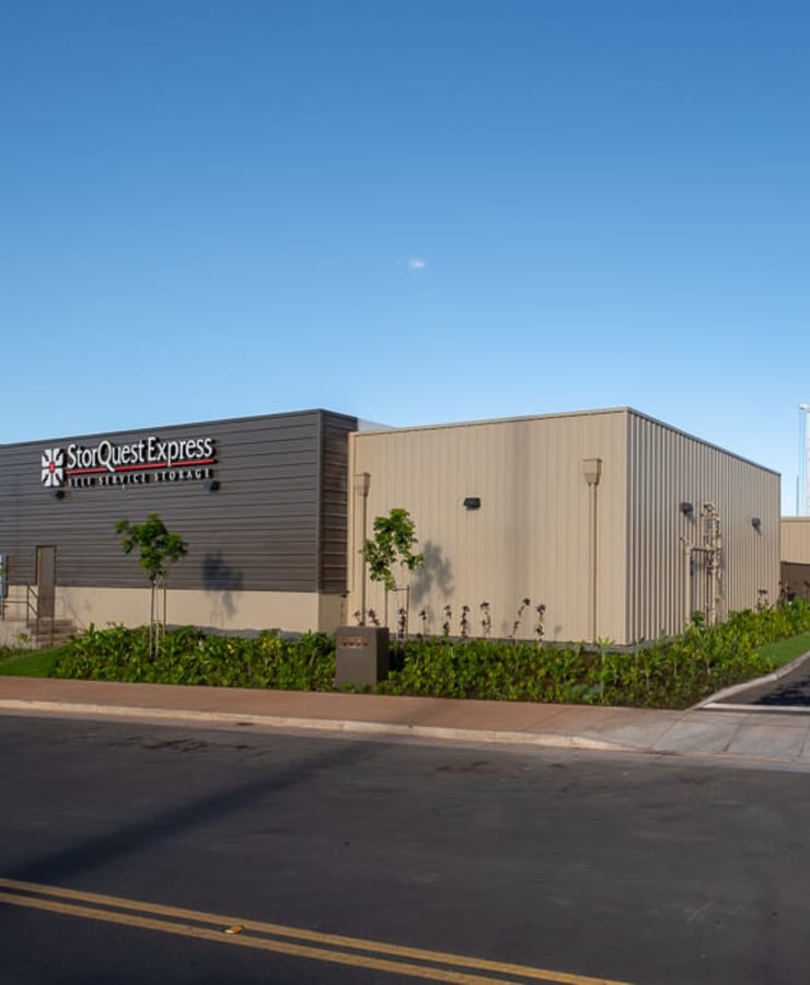 Facade and indoor units at StorQuest Express - Self Service Storage in Kapolei, Hawaii