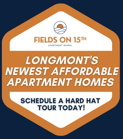 Property award badge at Fields on 15th Apartment Homes in Longmont, Colorado