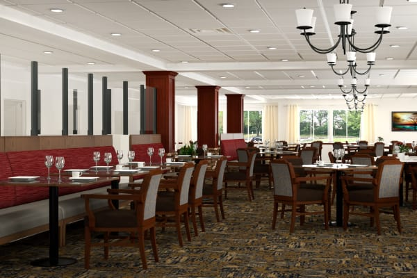 Rendering of lovely dining room at Pine Grove Crossing in Parker, Colorado